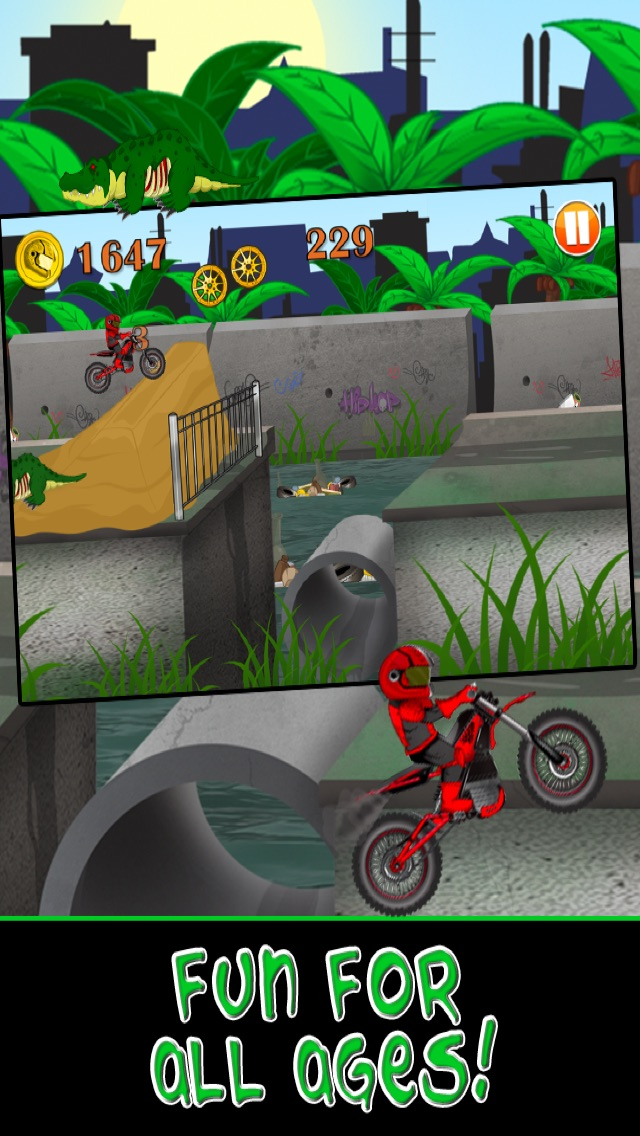 Screenshot of Moto Bike Race Escape: Racing Speed   da Mutant Sewer Rats & Tartarughe gioco - Multiplayer Shooter Edition5