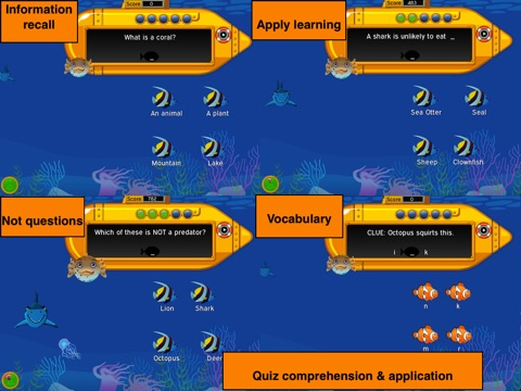 Murky Reef : 1st - 2nd Grade Reading, Science & Math screenshot 2