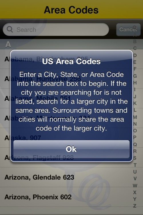 US Area Codes by Suave Solutions