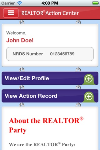 NAR Action Center screenshot 1