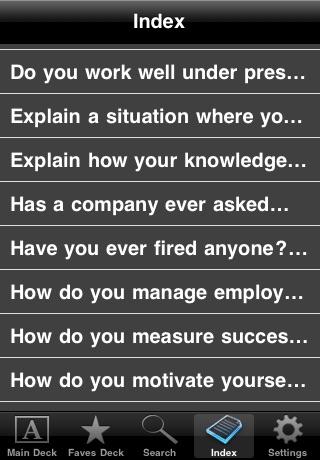 Screenshot of Interview Prep Questions (Free!)