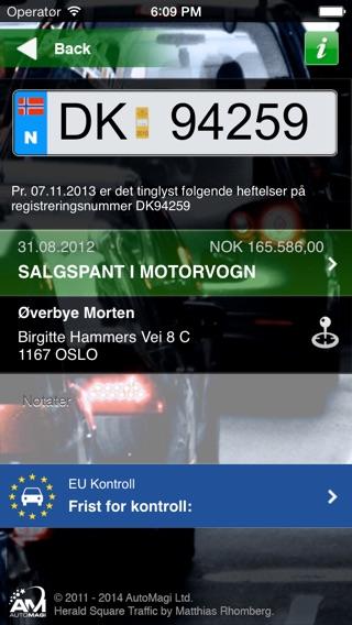 Finne bileier registreringsnummer