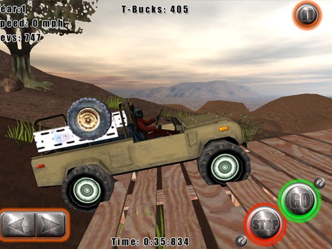 Screenshots of Tom's 4x4 for iPad