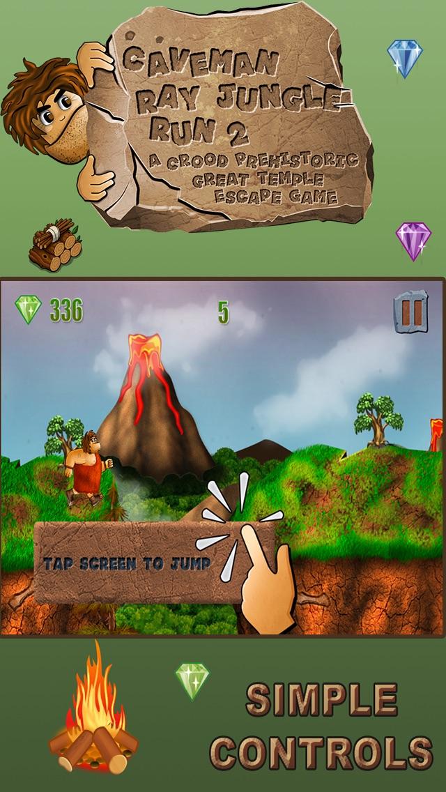 穴居人のジャングルラン:グレート恐竜脱出ゲーム - 無料版のスクリーンショット5