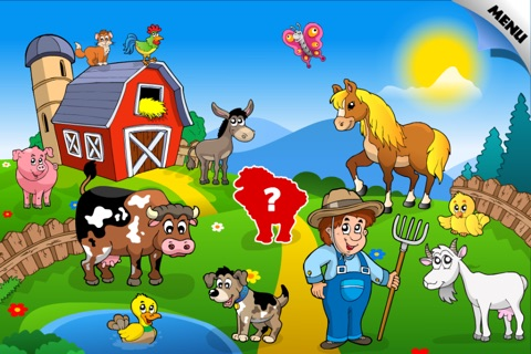 Abby - Preschool Shape Puzzle - First Word (Farm Animals, Toys, Transport, Pets, Princess, Fairy Tales...) screenshot 2