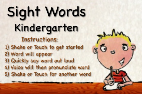 Sight Words For Kindergarten Talking Flash Cards By Funvid Apps Llc