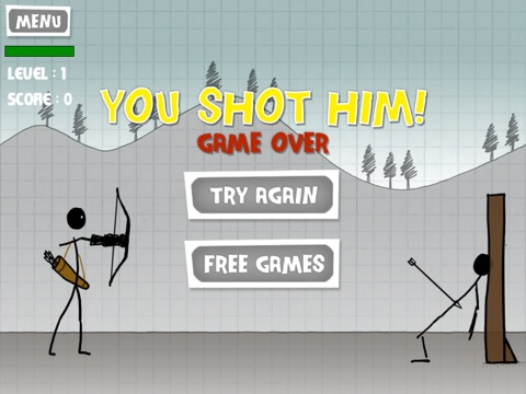 Screenshots of Stickman Apple Shooting Showdown - Free Bow and Arrow Fun Doodle Skill Game for iPad