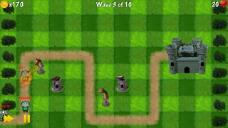 Screenshots of Zombie Tower Shooting Defense Free - by Top Free Games for iPhone