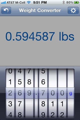 Weight Converter screenshot three