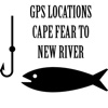NC Saltwater Fishing - Cape Fear to New River GPS Map