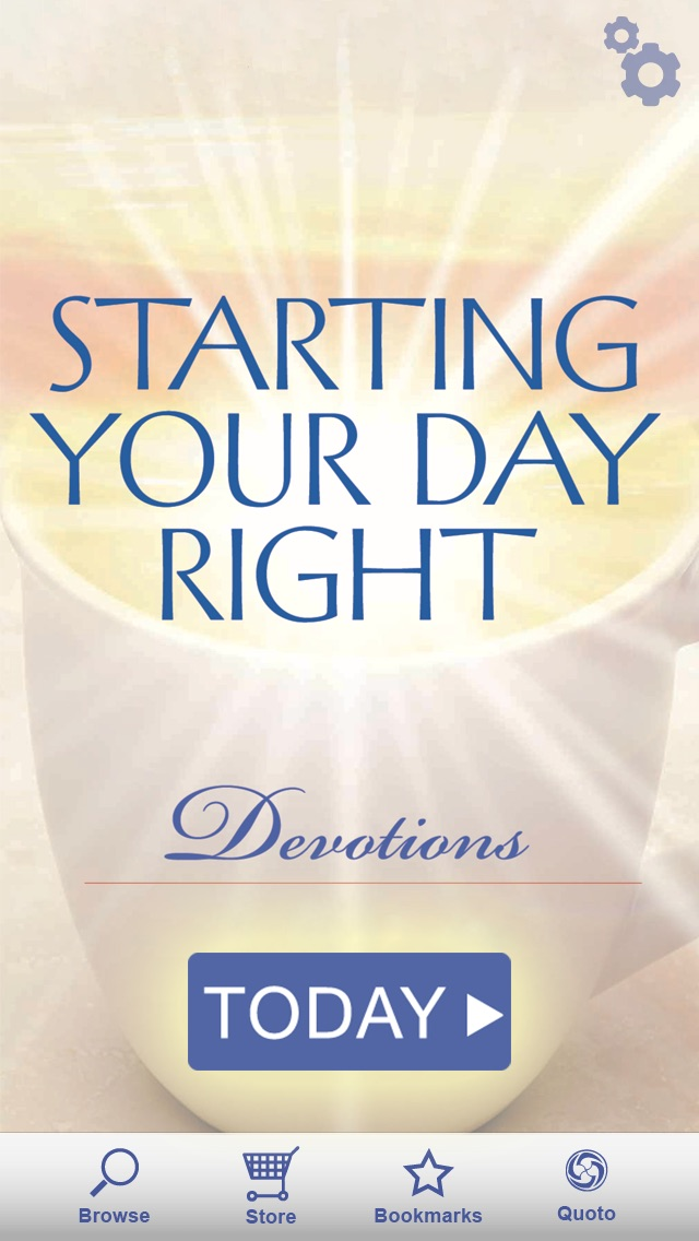 starting your day right devotional app report on mobile action. Black Bedroom Furniture Sets. Home Design Ideas