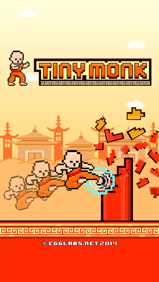 Screenshots of Tiny Monk Fight - Play Free 8-bit Retro Pixel Fighting Games for iPhone