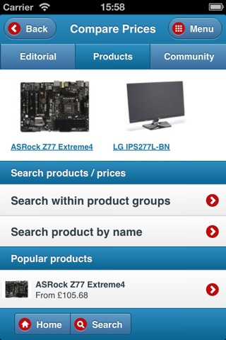 Hardware.Info Web App screenshot 2