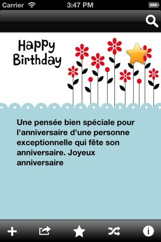 Messages et souhaits d'anniversaire screenshot 2