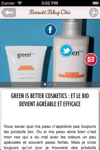 Beauté Blog Chic - Conseils maquillage et cosmétiques screenshot 3