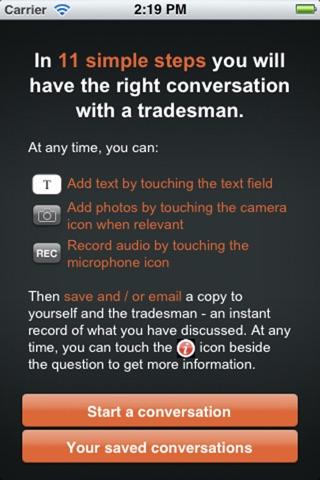 Tradesman Conversation Recorder by TrustMark screenshot 2