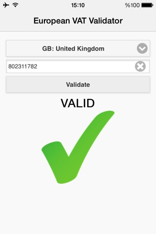 European VAT Validator screenshot 1