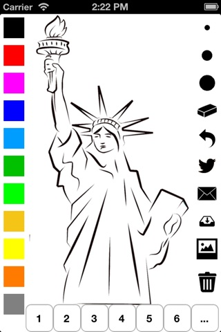 Independence Day Coloring Book for Children: Learn to draw and color icons of the United States of America screenshot 2
