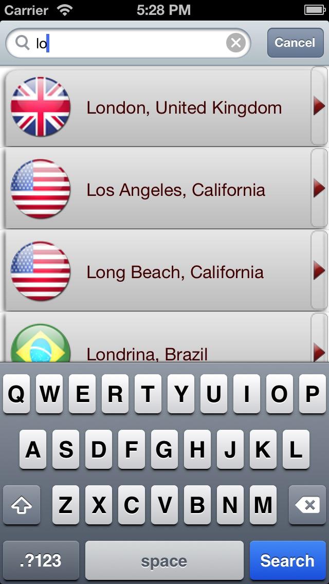 iWeather - глобальные точный прогноз погодыСкриншоты 1