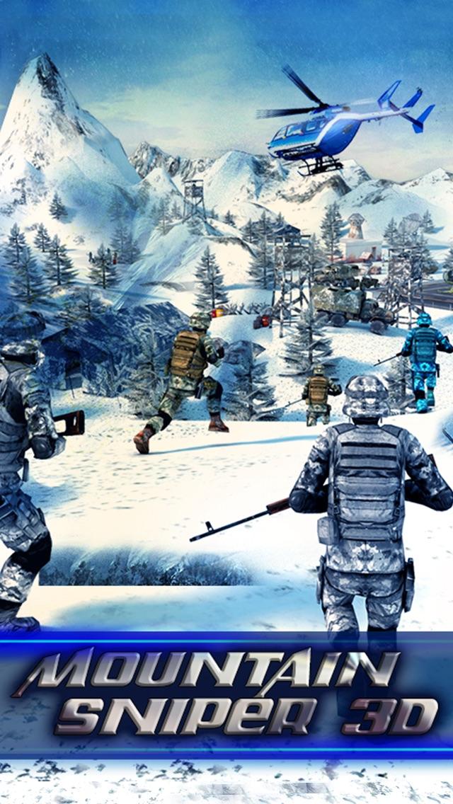 Screenshot #1 pour Mountain Sniper 3D : Frozen Frontier FPS