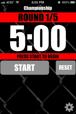 MMA Timer - Pro Mixed Martial Arts Round & Interval Timer screenshot 1