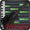 MIDI Fretboard - Guitar, Bass, Ukulele, Banjo, Shamisen, Sanshin, Oud, Pipa Controller icon