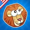 Tier-Namen! Lernspiel für Babys, Kleinkinder und Kinder über die Tiere der Savanne. Lernen mit Löwen, Elefanten, Krokodile, Flusspferde, Affen, Zebras, Papagei und mehr im Dschungel, Safari oder Wüste! Spiele für Vorschule oder Kindergarten