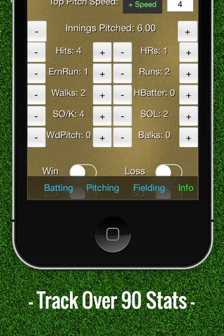 Baseball Stats Tracker Touch screenshot 2