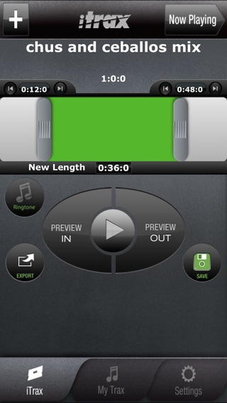 iTrax Free - Music Shortener and Ringtone Maker Screenshot