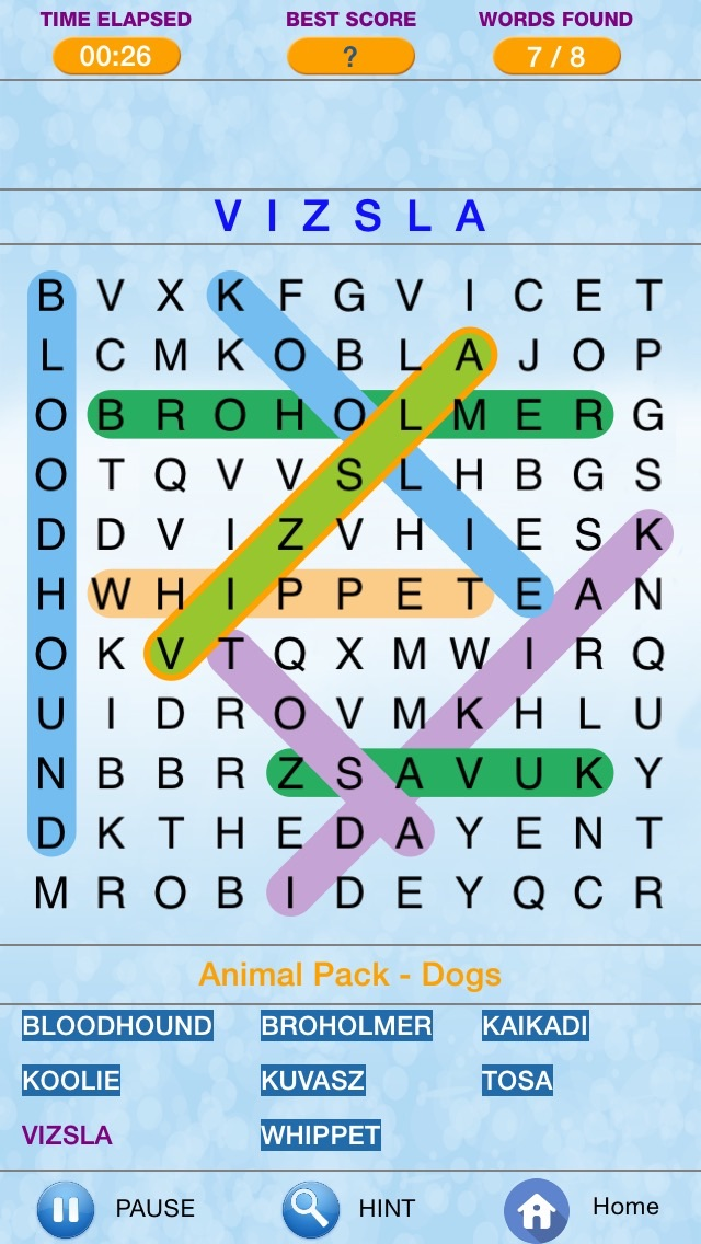 Screenshots of Word Search - Find Crossword Challenged  Puzzles for iPhone