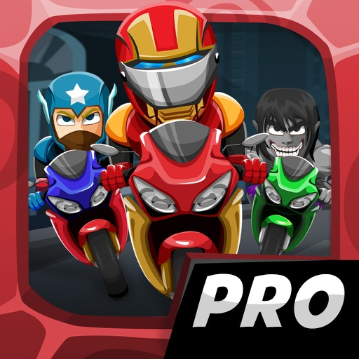 Comic Superhero Con-man Biker – Super Stunt of Steel Hero 2 Games PRO iOS App
