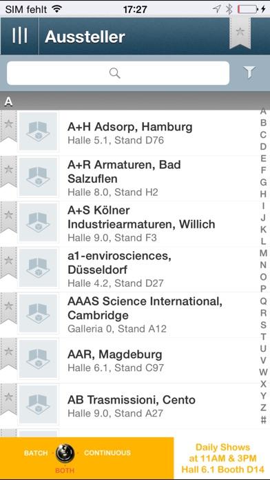 Screenshot von ACHEMA3