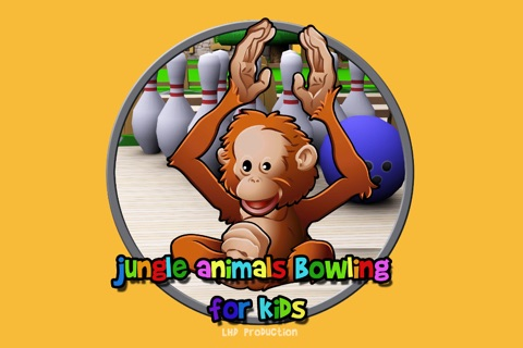 jungle animals and bowling for kids - no ads screenshot 1