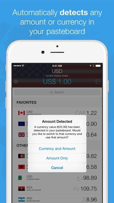 Screenshot #1 for Currencies by Edovia