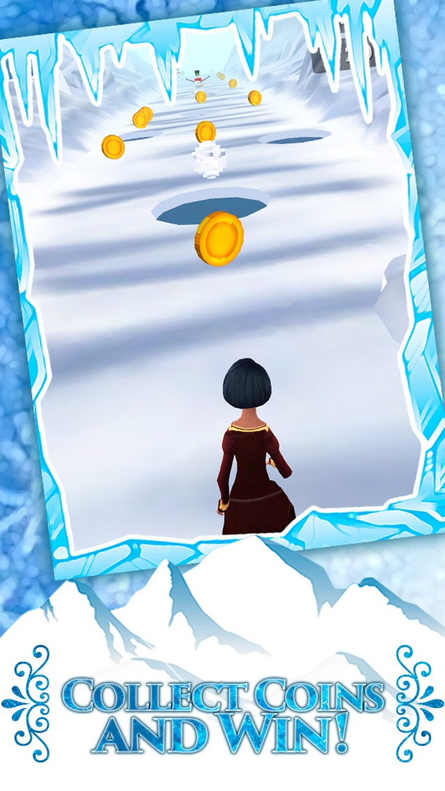 Screenshots of Frozen Princess Run 3D Infinite Runner Game For Girly Girls With New Fun Games FREE for iPhone