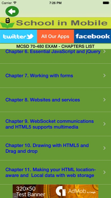 Screenshot of MCSD 70-480 Exam Prep gratuito1