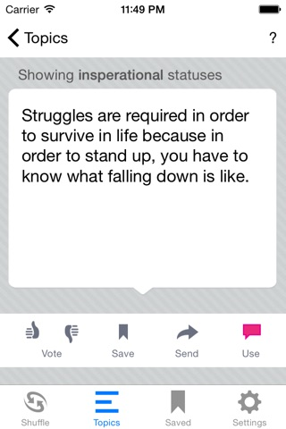 Status Shuffle for Facebook screenshot 4