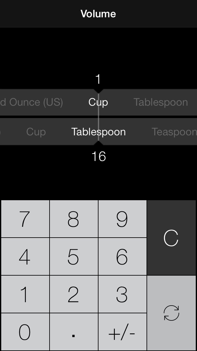 Conversion - the ultimate unit and currency converter screenshot one