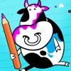 Actif! Un Livre de Coloriage Pour Les Enfants Avec des Animaux