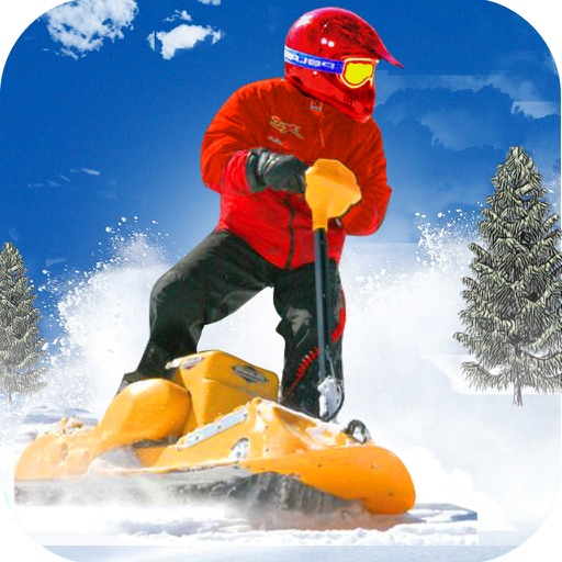 Snow Powerboard Racing ( 3D Speed Sports Power board stunts racing offroad game on Fast ice road tracks with real ragdoll physics ) iOS App