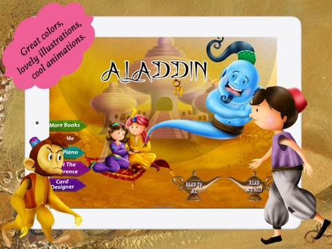 Aladdin and the Magical Lamp for children by Story Time screenshot 1