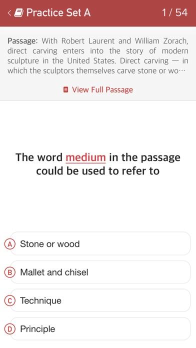 TOEFL Reading Comprehension Practice - Passages & Questions Screenshot