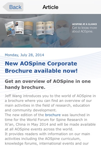 AOSpine News screenshot 3