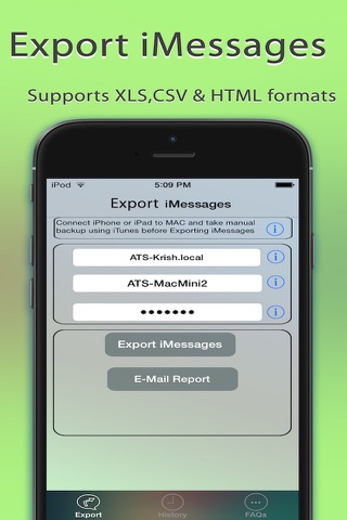 Export Messages - Save Print Backup Recover SMS screenshot 1