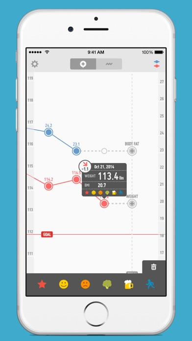 PopWeight - Easily track and record your weight Screenshot