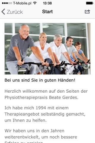 Beate Gerdes Krankengymnastik screenshot 1