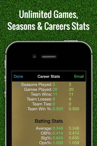 Baseball Stats Tracker Touch screenshot 3