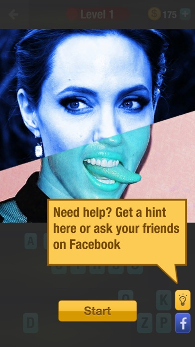 Guess Celebrity Mashup: a challenging trivia quiz game screenshot four