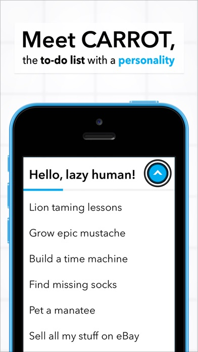 Carrot To-Do - Talking Task List On The App Store