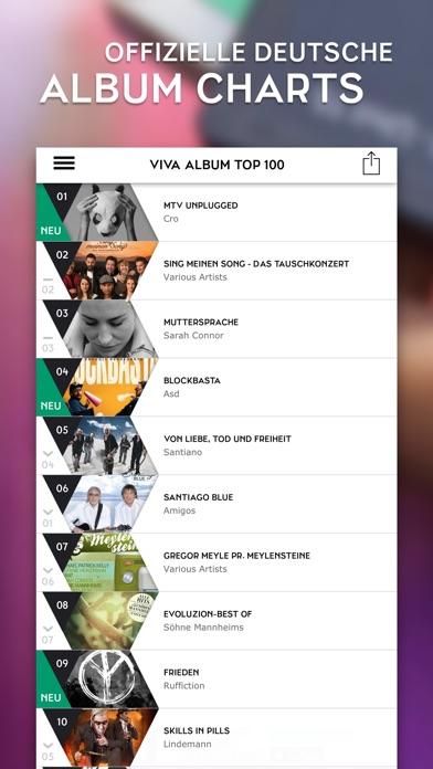 viva charts deutsche top 10 top 100 musikcharts. Black Bedroom Furniture Sets. Home Design Ideas